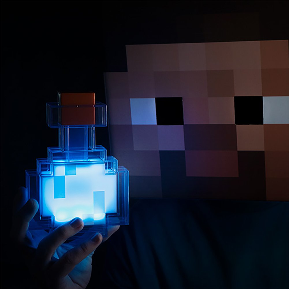 ThinkGeek Minecraft Color Changing Potion Bottle - Lights Up and Switches Between 8 Different Colors - Officially Licensed Minecraft Toys by ThinkGeek (Image #3)