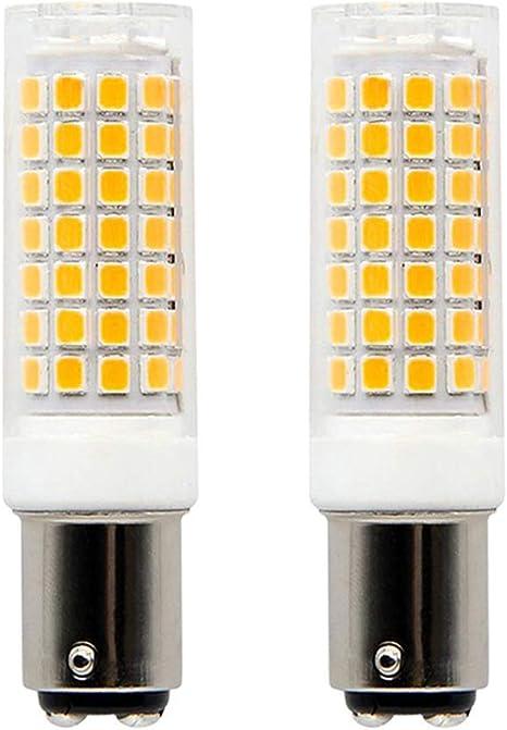Ba15d Led Bulb Double Batyonet Base 8w 75 Watt 100 Watt Halogen Equivalent Replaces Jd Type T3 T4 Bulbs Warm White 3000k 110v 130v Pack Of 2 Amazon Com