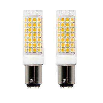 Ba15d Bombilla LED regulable de 8 W, 75 W-100 W bombillas halógenas de repuesto, ...