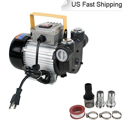 110V AC 60L/min 550W Oil Diesel Transfer Pump Kit Self Priming by (550 Transfer)