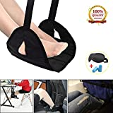 Airplane Footrest Foot Rest for Airplane Travel Office, Portable Hammock Footrest with Memory Foam Plus Sleep Mask and Earplugs Travel Accessories Portable Carry-on for Sleep Relax