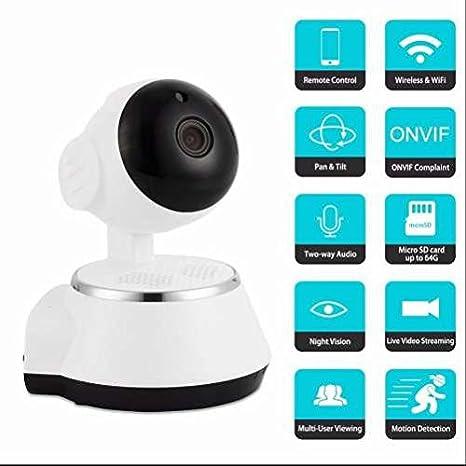 Cámaras de vigilancia,Vigilancia Seguridad IP Cámara,visión superamplio,detección de movimientos-sonido,Vigilancia en tiempo real,Apoyo TF 32GB(Guardar 7 ...