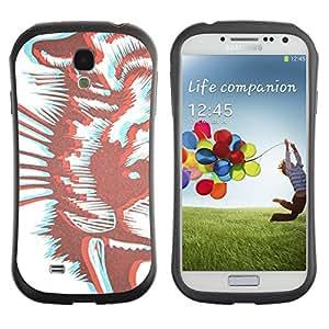 "Pulsar iFace Series Tpu silicona Carcasa Funda Case para SAMSUNG Galaxy S4 IV / i9500 / i9515 / i9505G / SGH-i337 , Arte del tigre Blanco Marrón"""