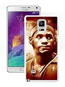 Popular And Unique Custom Designed Cover Case For Samsung Galaxy Note 4 N910A N910T N910P N910V N910R4 With Cleveland Cavaliers Lebron James 13 White Phone Case