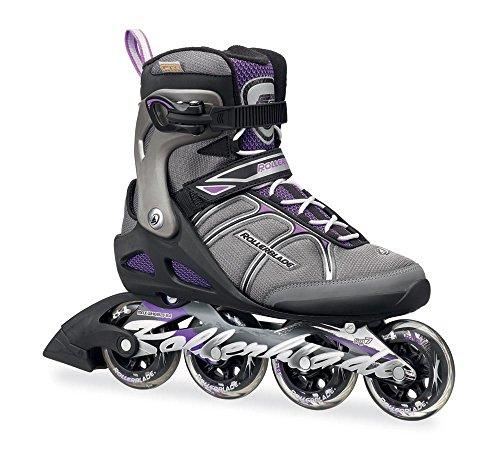 Rollerblade Macroblade 84W Alu 2016 Fitness/Workout Skate, Black/Purple, US Size 10 (Hardware Alu)