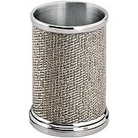 mDesign Vaso para Cepillo de Dientes de Acero