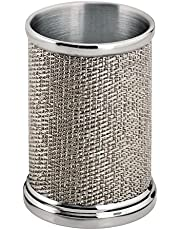 mDesign Vaso para Cepillo de Dientes de Acero – Ideal como Porta cepillos o como Organizador de cosmética para delineadores, brochas de Maquillaje y demás