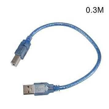 ZREAL 0.3/0.5/1.5/3/5 / 10M USB Cable de Impresora Tipo A Macho a Tipo B Macho USB2.0 Cable de impresión de extensión