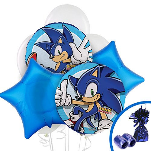 BirthdayExpress Sonic The Hedgehog Party Supplies - Balloon Bouquet -
