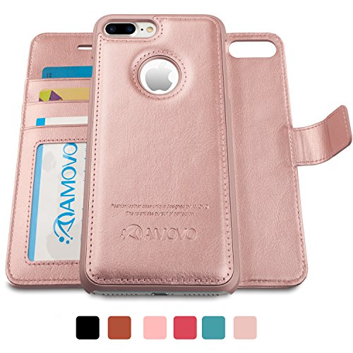 AMOVO iPhone 7 Plus Case, iPhone 7 Plus Wallet Case [Detachable Wallet...