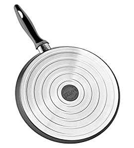 Saflon Titanium Nonstick Crepe Pan, 4mm Forged Aluminum with PFOA Free Scratch-Resistant Coating from England, Dishwasher Safe