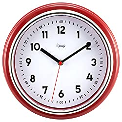 Equity by La Crosse 20867 11.5 Red Retro Wall Clock