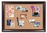 Framed Cork Board with Weston Espresso Frame