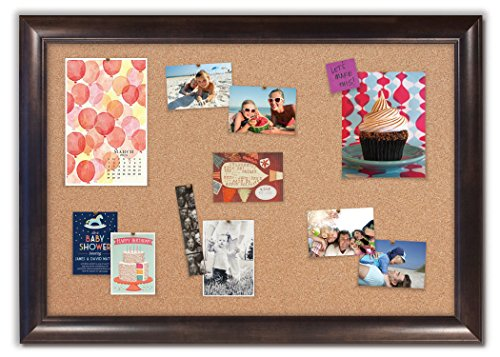 Framed Cork Board with Weston Espresso Frame by The Cork Board Shop