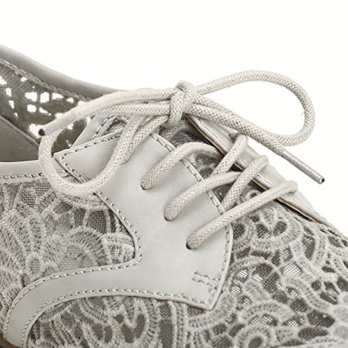 PRENDIMI by Scarpe&Scarpe - Zapatos acordonados de encaje, Zapatos Planos GHIACCIO