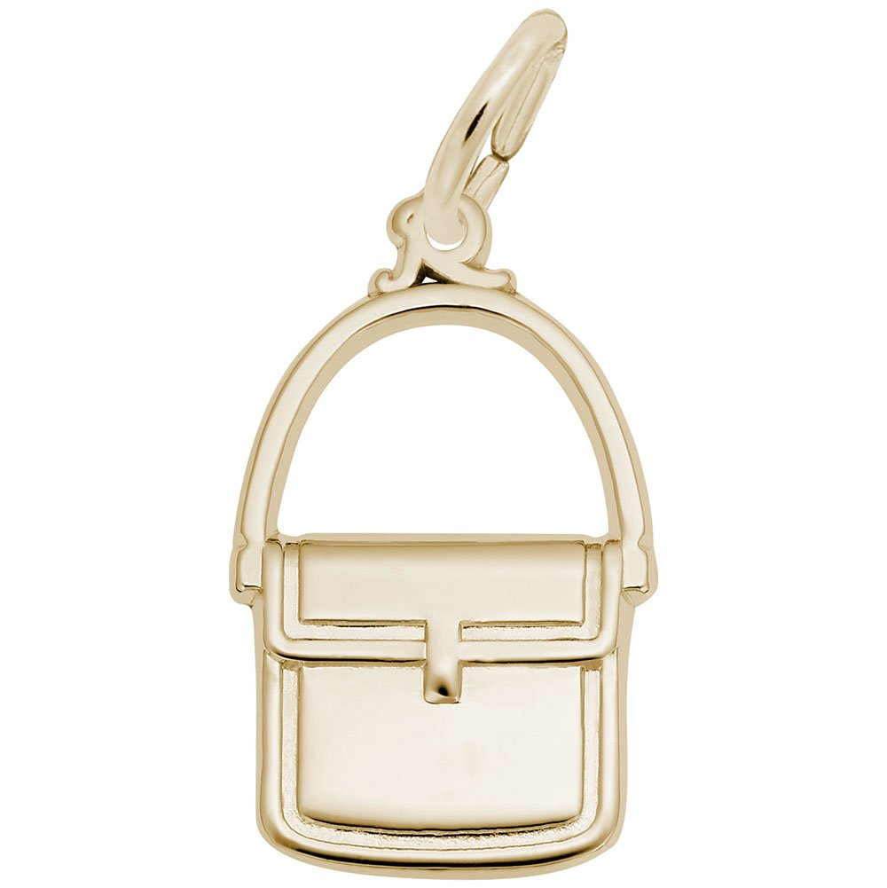 Purse Charm In 14k Yellow Gold, Charms for Bracelets and Necklaces