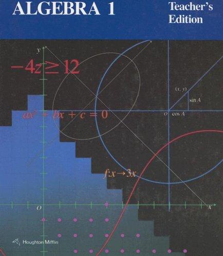 Algebra 1, Teacher's Edition