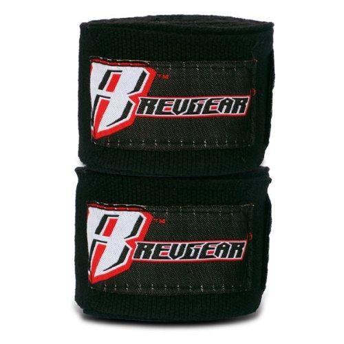 Revgear Elastic Handwraps (Black, 180-Inch)