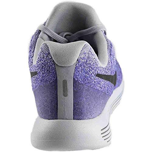 Nike Womens Lunarepic Low Flyknit 2 Running Shoe, Wolf Grey/Black/Purple Earth, 9.5 B(M) US