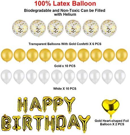 Party Rosa Geburtstag Dekoration Set mit Luftballons f/ür M/ädchen und Jungen Geburtstag DEZEHUI Geburtstagsdeko Happy Birthday Girlande Ballons St/ück Partyzubeh/örsets