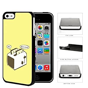 MMZ DIY PHONE CASEFunny We Are Toast Toaster Cartoon w/ Yellow Background ipod touch 5 Hard Snap on Plastic Cell Phone Cover