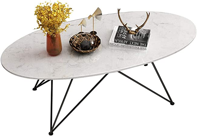 Living Room Furniture Metal Nordic Oval Marble Coffee Table