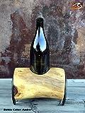 Horseshoe Log Wine Bottle Art Candle Holder