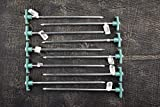 SE Galvanized Non-Rust Tent Peg Stakes with Green Stopper