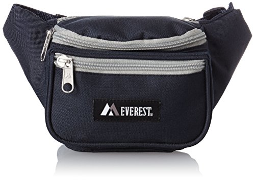 Everest Signature Waist Pack - Standard, Navy/Gray, One Size