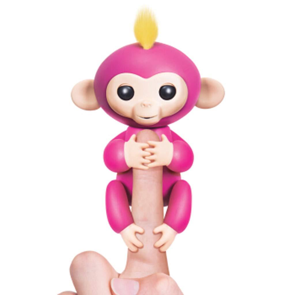 BJLWTQ Toy Colorful Finger Monkey Robot Intelligent Electronic Toy Fingertip Monkey Child Gift Pink (Color : Black)