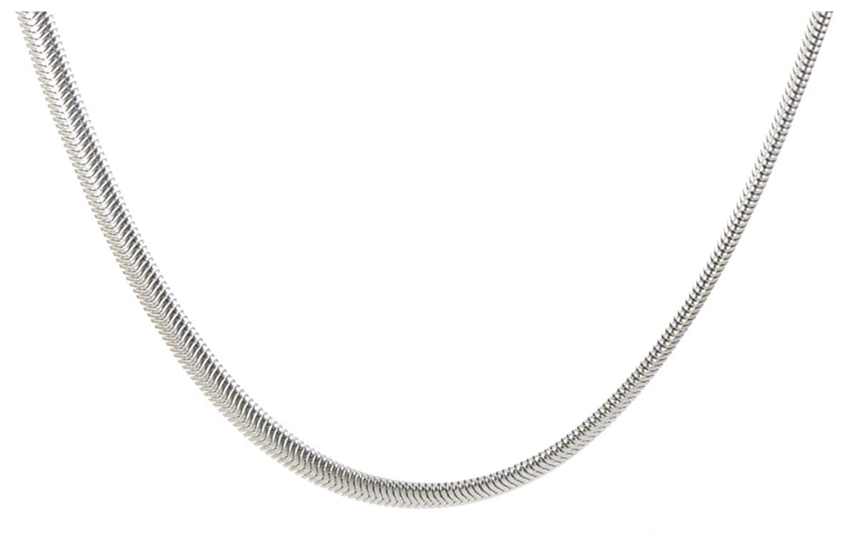 20 Stainless Steel 4.2mm Flat Snake Chain
