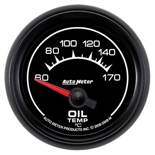 """Price comparison product image Auto Meter 5948-M ES 2-1 / 16"""" 60-170 Degree C Short Sweep Electric Oil Temperature Gauge"""