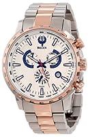 Brillier Men's 16-03 Endurer Rose Gold Chronograph Swiss Quartz Watch from Brillier