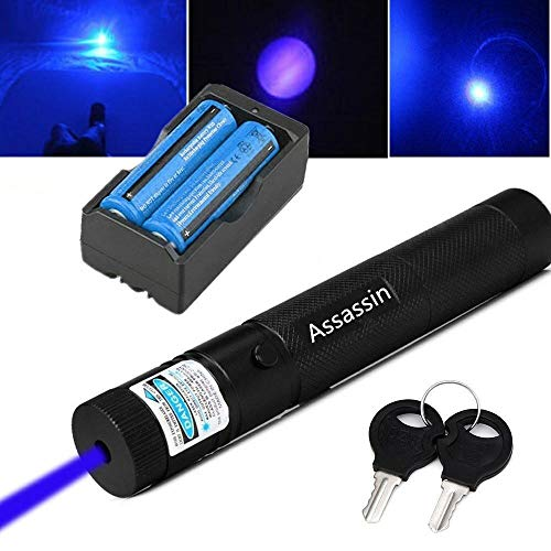 Mini Blue Purple Beam Light| Laser Pointer | 405nm Visible AAA| Hunting Rifle Scope Sight Laser Pen, Remote Laser Pointer Travel Outdoor Flashlight, LED Interactive Baton Funny Laser Pointer Toys for