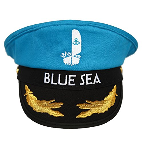 Sea Sailing Pirate Costumes - Outtymate Adjustable Yacht Captain Sailor Cap Navy Marine Cosplay Halloween Party Hat
