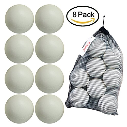 Kidtastic T-ball Balls, 3.5-inch, Jumbo Size (8 pack) with Durable Mesh Ball Bag, Great For T-Ball, Softball and Baseball Practice, Ages 18 Months and ()