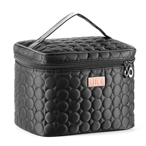 DRQ Large Cosmetic bags-Multifunction Portable Travel Toiletry Bag Cosmetic Makeup bags with Mirror for Women Skincare Cosmetic Pouch Organizer