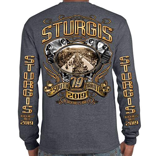 - Biker Life Clothing 2019 Stugis Black Hills Rally Main Street Engine Long Sleeve Shirt