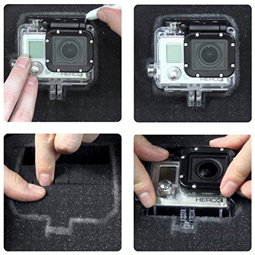 CAMKIX Customizable Magic Foam Medium Case - Gopro Hero 7, 6, 5, Black, Session, Hero 4, Session, Black, Silver, Hero+ LCD, 3+, 3, 2, 1 and DJI Osmo Action - Tailor The Foam to Your Unique Needs