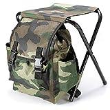 Bazaar Fishing Chair Outdoor Portable Folding Stool Backpack Portable Folding Fishing Chair Backpack