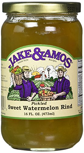 Jake and Amos Pickled Sweet Watermelon Rind Jars, 16 Ounce - 2 pack