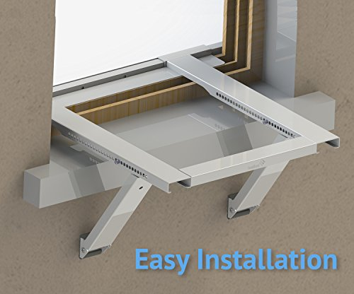 Ivation Window Air Conditioner Mounting Support Bracket – Easy To Install Universal AC Mount, No Tools Required – Heavy Duty Steel Construction Holds Up To 200 lbs – Fits Single Or Double Hung Windows by Ivation (Image #2)