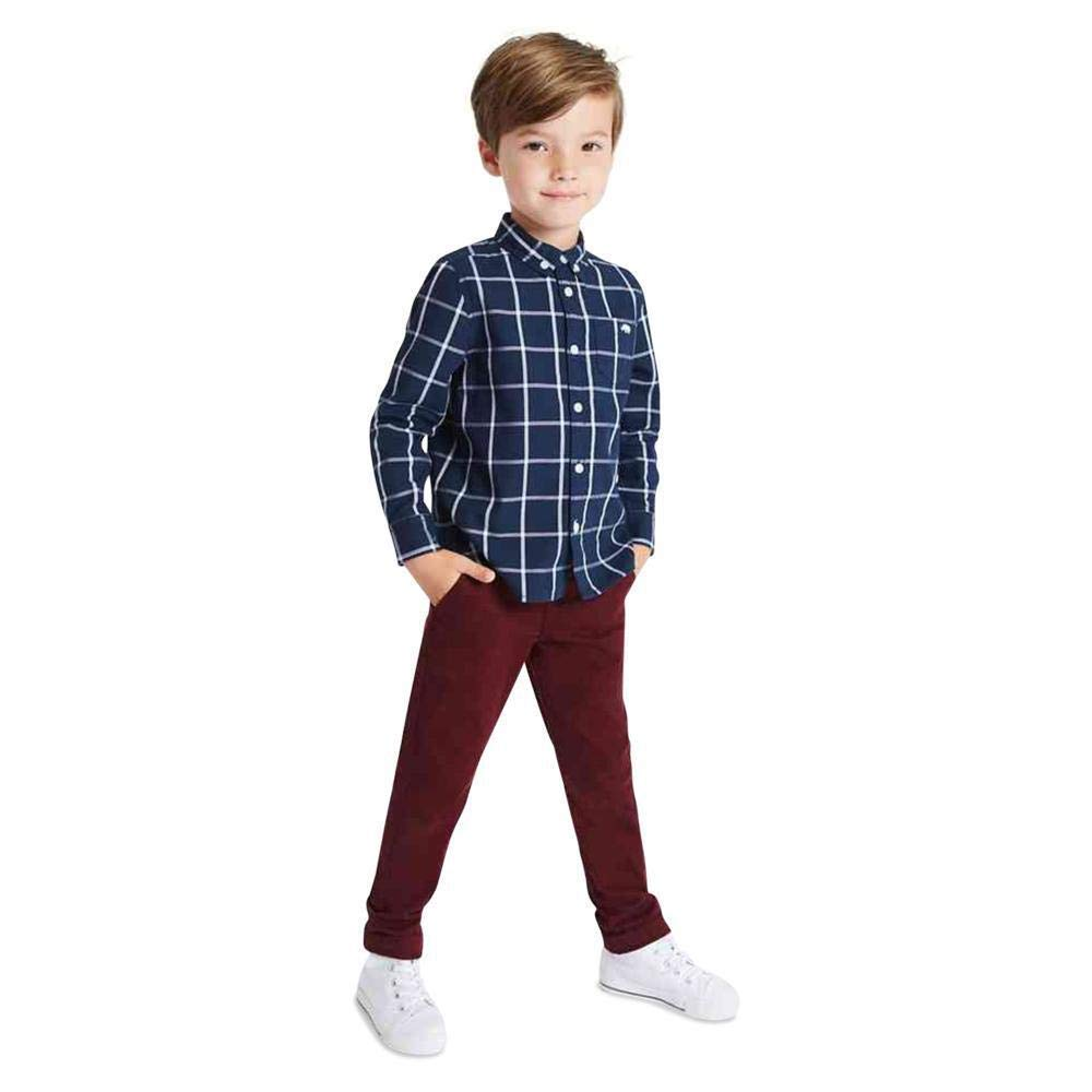 RRP /£12 Ex Marks /& Spencer T882678J M/&S Cotton Chinos with Stretch 3 Months - 7 Years