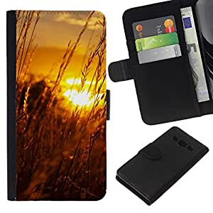 Stuss Case / Funda Carcasa PU de Cuero - Sunset Beautiful Nature 61 - Samsung Galaxy A3