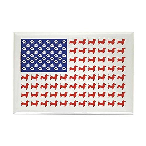 CafePress - Dachshund Patriotic Flag - Rectangle Magnet, 2