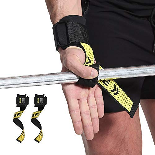 Wrist Wraps, Weight Straps Weightlifting Straps Non-Slip for Powerlifting, Bodybuilding, Strength Training