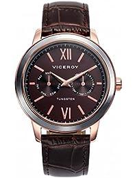 Reloj Viceroy 40991-43 Steel Leather Man IP Rosa Multifunction