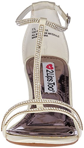 Sandal White Women's Eventful 2 Lips Too Dress Satin Too xwY1xOzq0