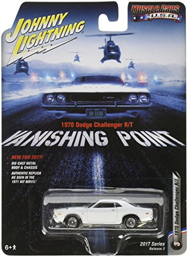 Johnny Lightning 1:64 Muscle Cars USA Vanishing Point 1970 Dodge Challenger R/T Diecast Vehicle from Johnny Lightning