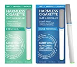Harmless Cigarette/Natural Quit Smoking Aid/Habit Replacement/Stop Smoking Craving Relief/Includes FREE Support Guide To Help You Quit (2 Pack, Cool Menthol/Fresh Mint)